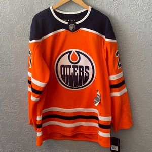 NWT AUTh signed Lucic NHL Oilers Hockey jersey